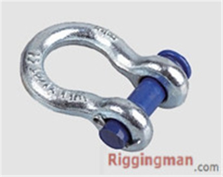 RIGGING ROUND PIN ANCHOR SHACKLE U.S TYPE,drop forged
