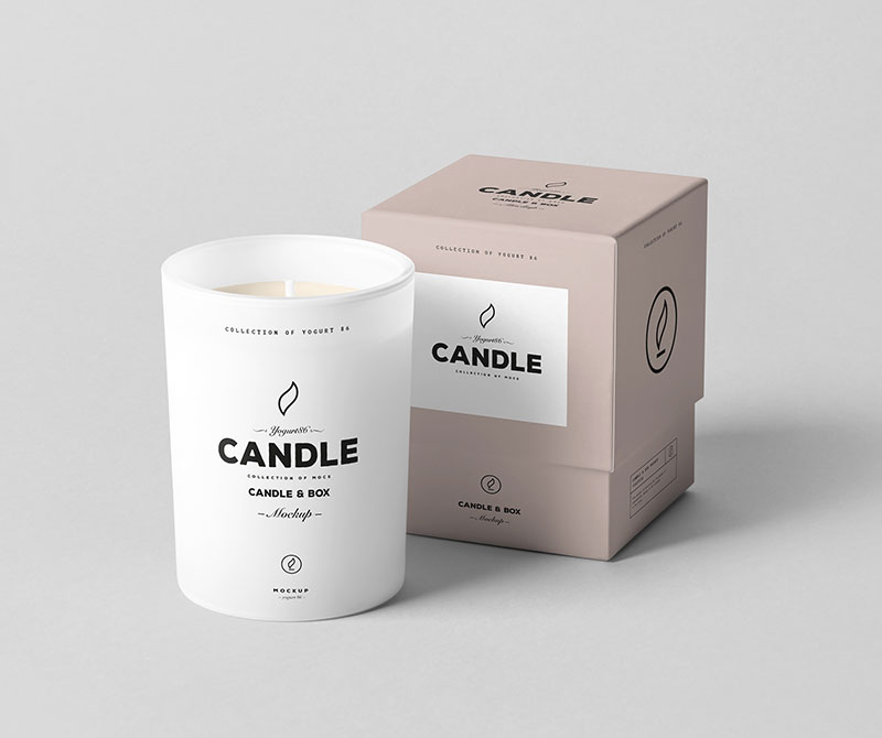 New Arrival Gift paper box round paper candle packing boxes printed