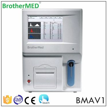 Auto vet hematology analyzer with 8 inch touch screen