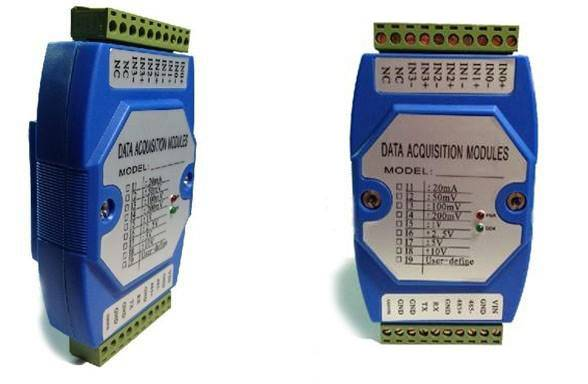 2-ch 0-5V analog signal to RS232 converter