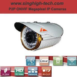 P2p Onvif 720p 1.0MP Waterproof IR IP Camera (NS5077L)