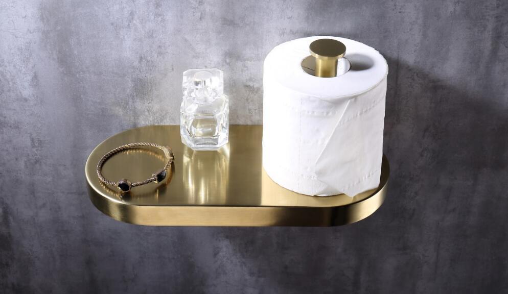 Oem Polished Brass Toilet Paper Holder