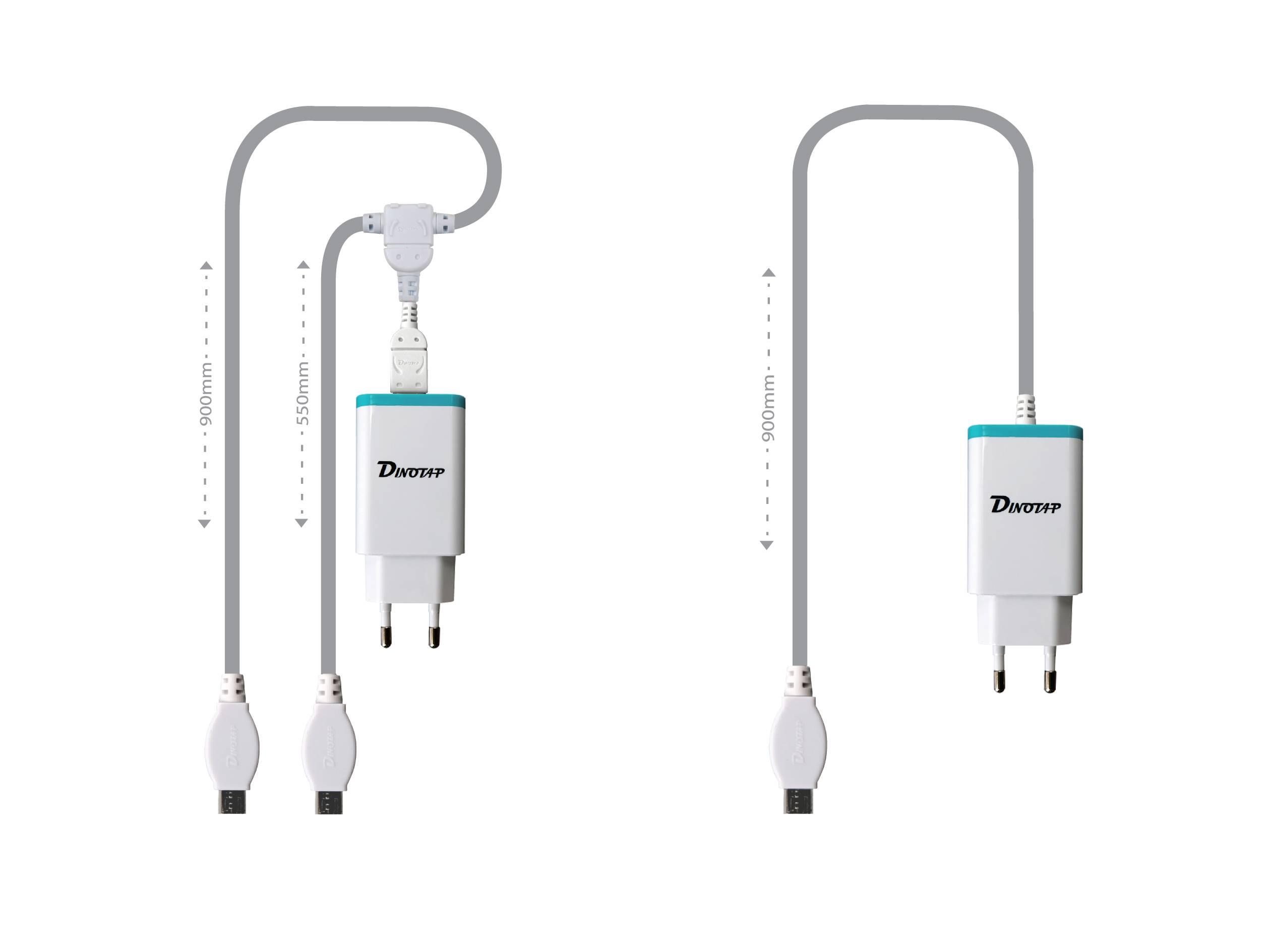 DINOTAP USB Detachable Dual Micro 5-PIN Multi-charger for household KSA-2000