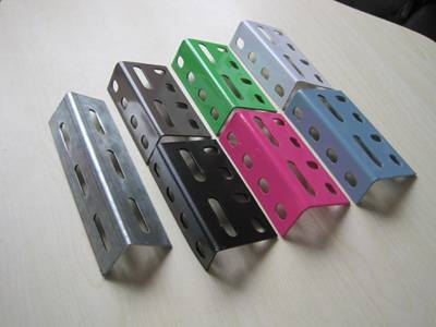 Punched slotted-angle steel