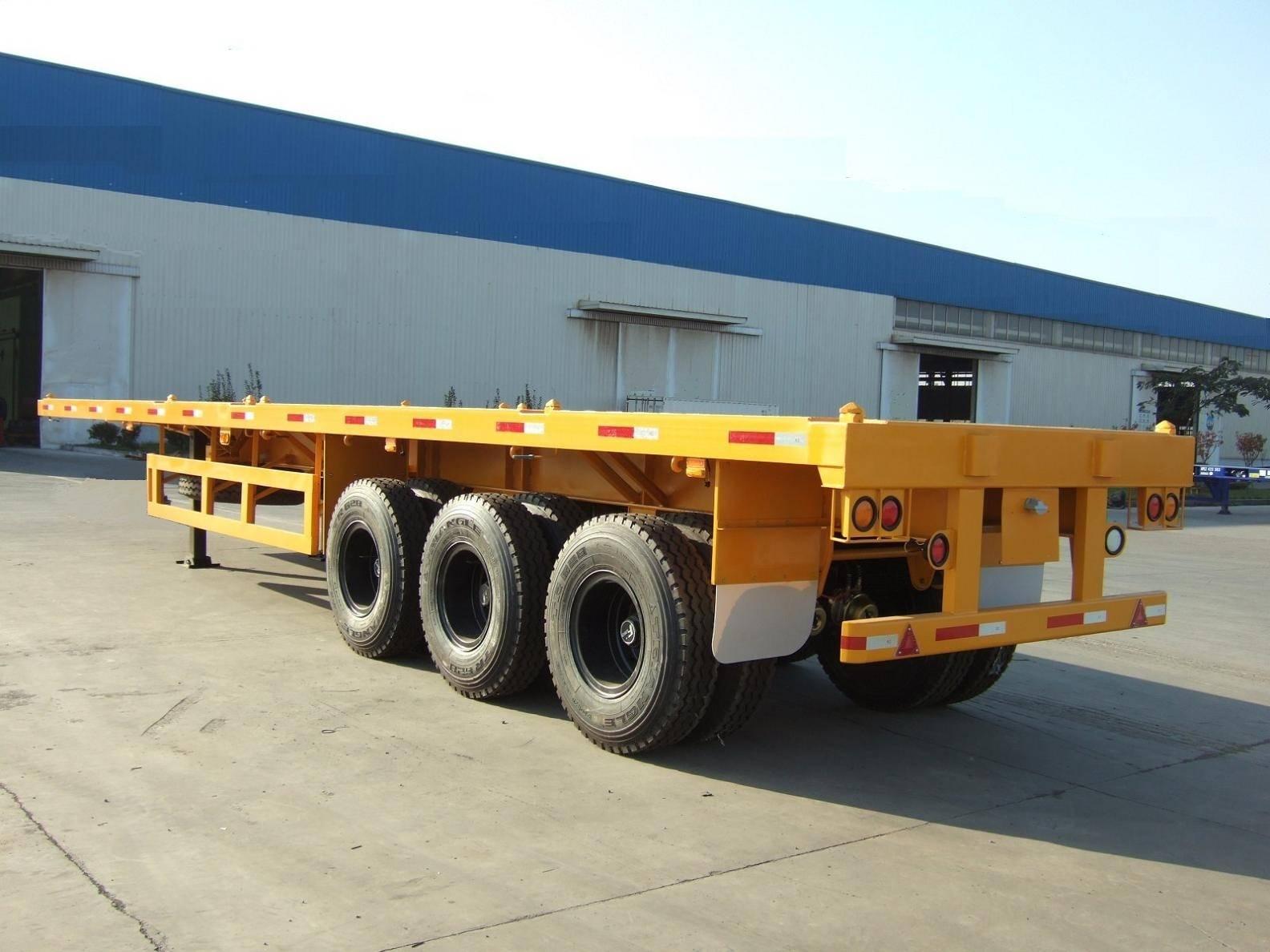 3 axle flat bed semi trailer
