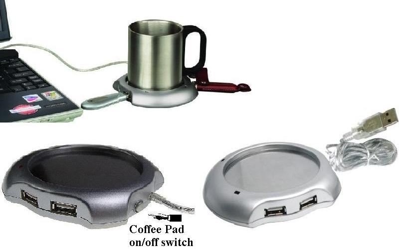 USB Cup Warmer (with 4ports or without port)