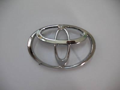 Toyota aotu emblem car logo chromed auto emblem