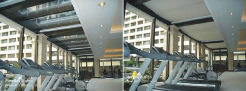 Full casette atrium awning L960