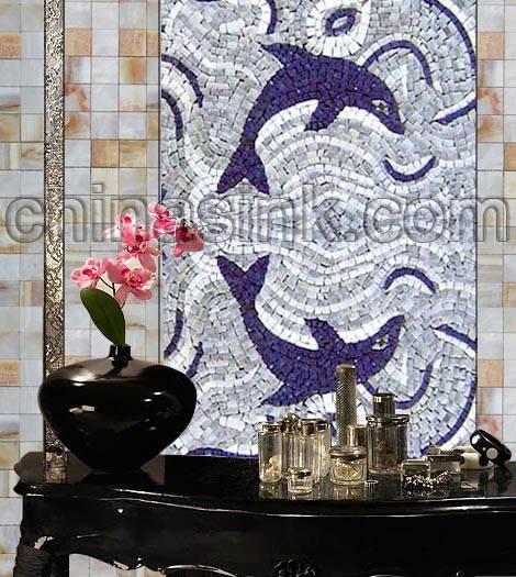 mosaic hallway project mosaic tile medallion