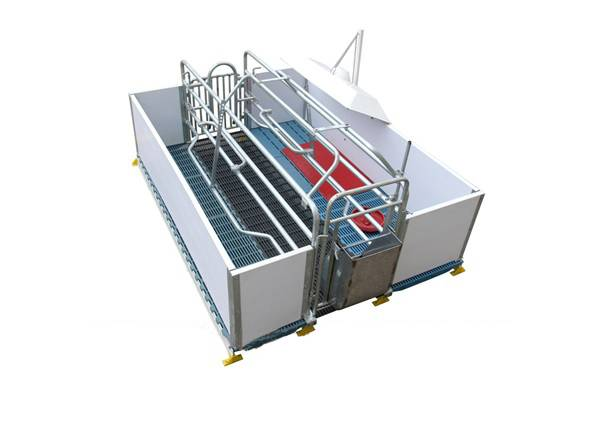 Swine production equipment- Pig Farrowing crate with PVC Plank fence