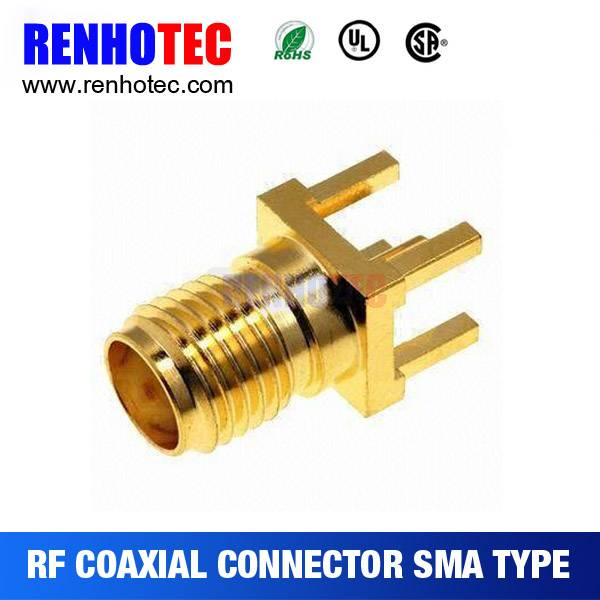 SMA type Female Straight pcb Mount Connector