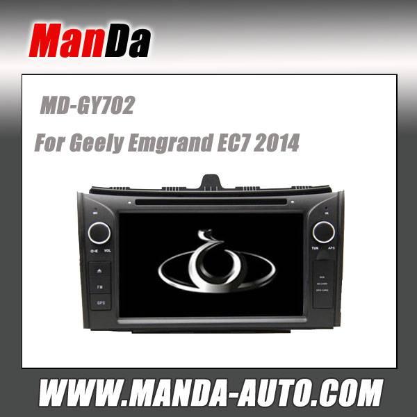 Manda 2 din car dvd for Geely Emgrand EC7 2014 car gps navigation in-dash head units multimedia