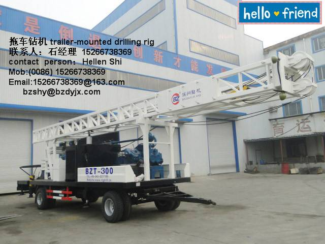 trailer type drilling rig