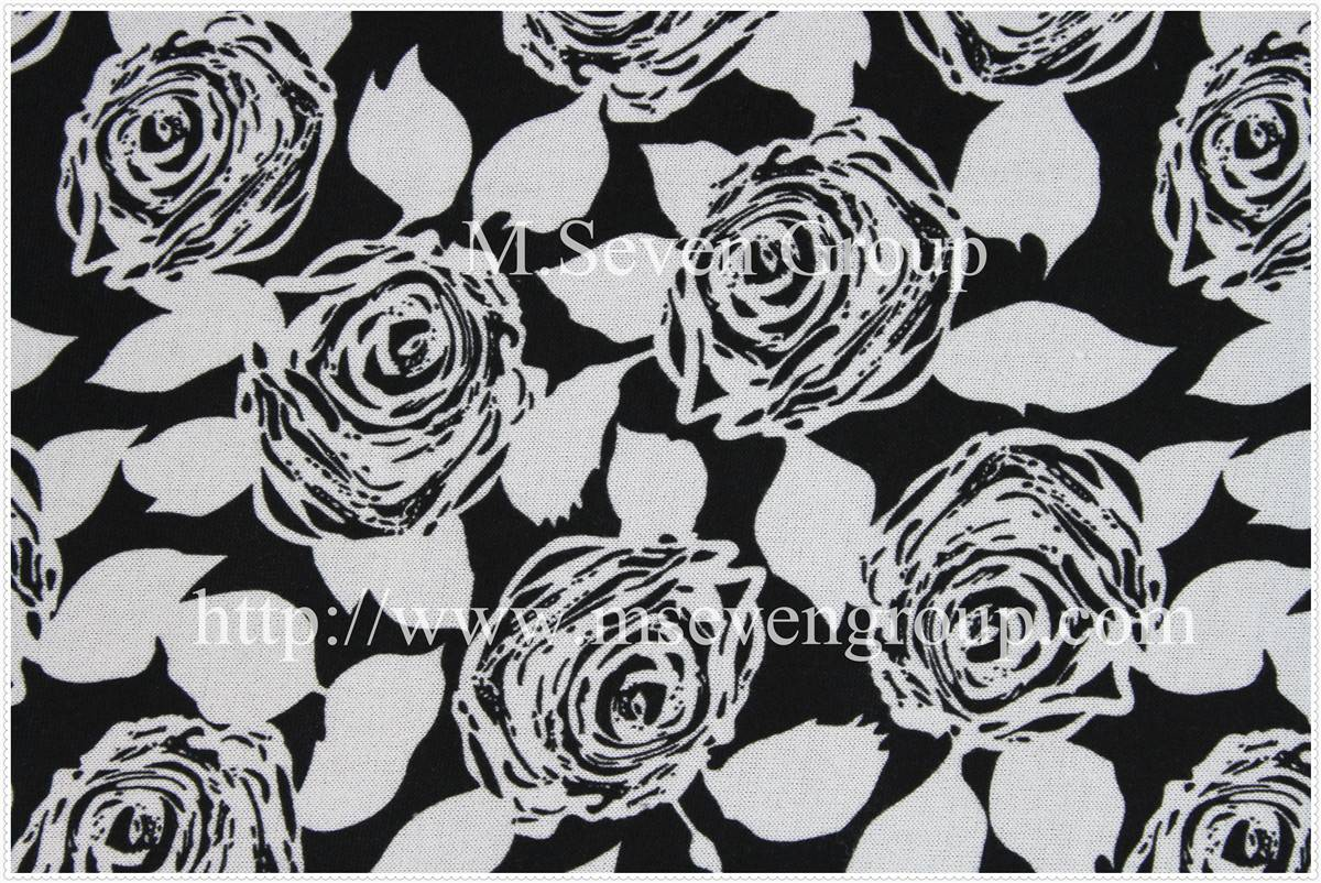 Wholesale 100% Polyester Composite Fabric,floral printed fabric with bottom fleece