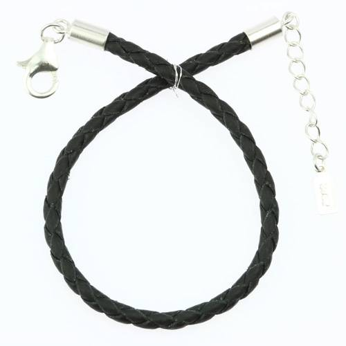 braided leather bracelets with sterling silver