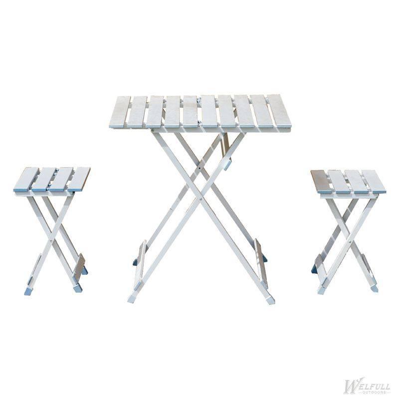 Aluminum picnic table chair set