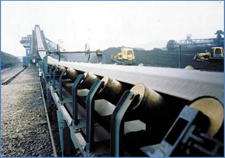Steel cable core belt conveyor for mining,electric power,coal,buildng materials
