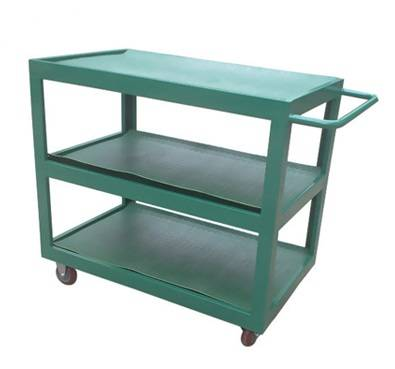 Heavy duty metal material handing warehouse trolley with non-slip mat RCA-0316