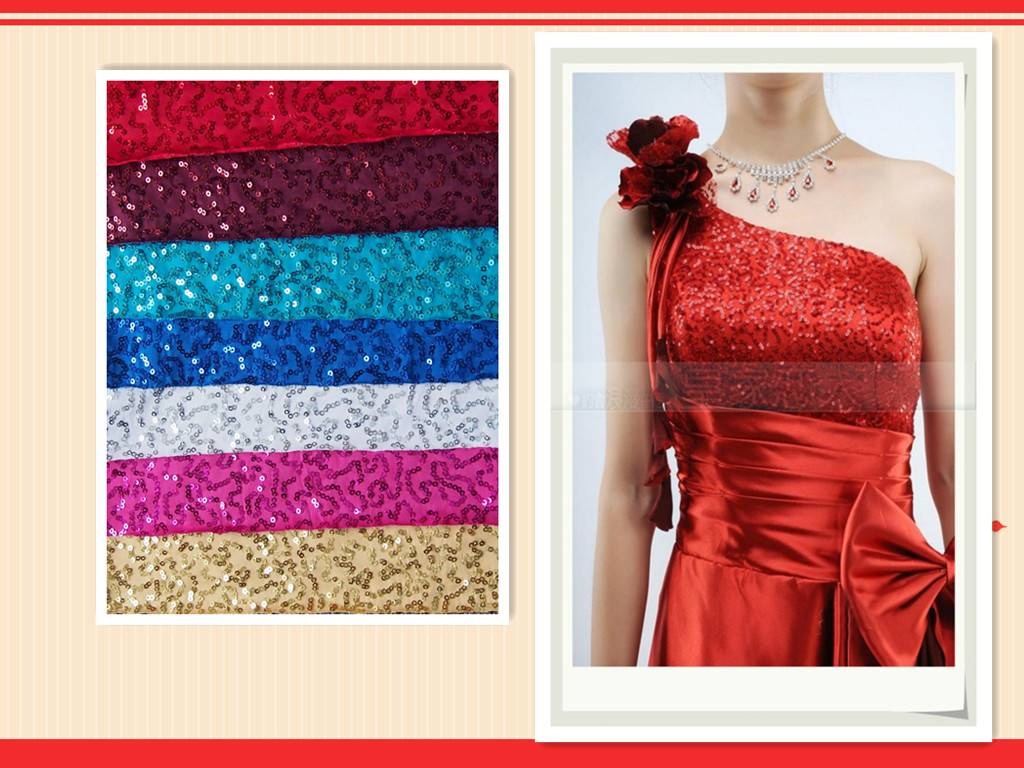 sequin evening wear embroidery fabric