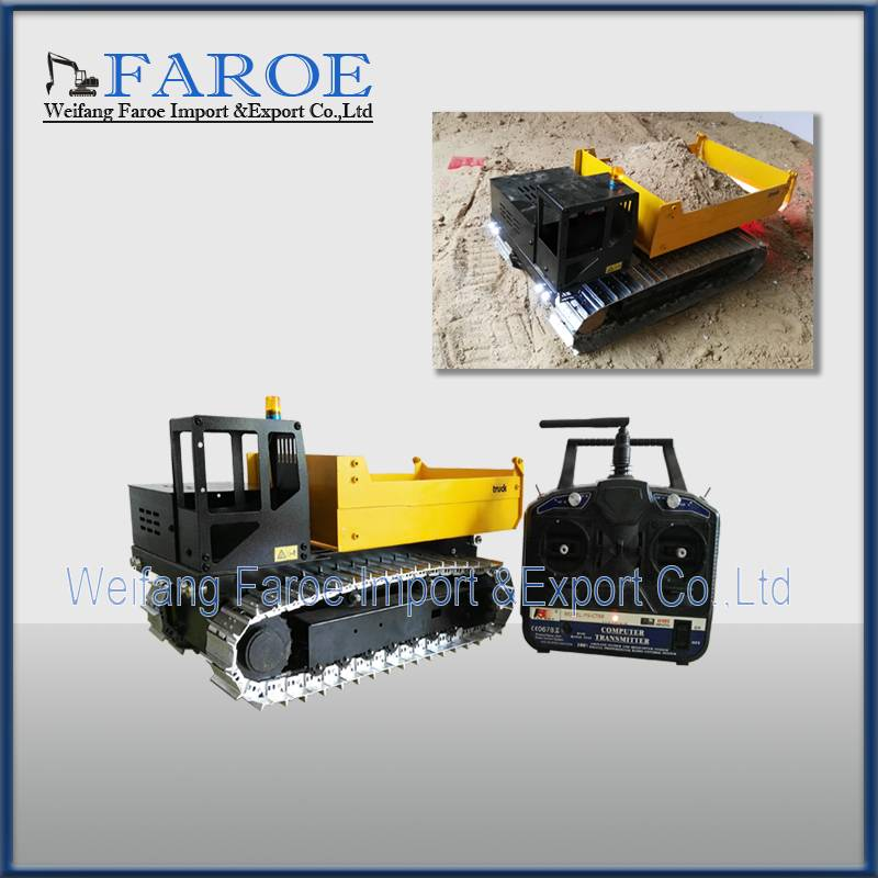 RC model 1:12 scale hydraulic dump truck vehicle toy