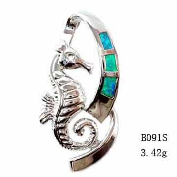 Fashion Jewelry Opal Set With Opal Inlayed-B091S