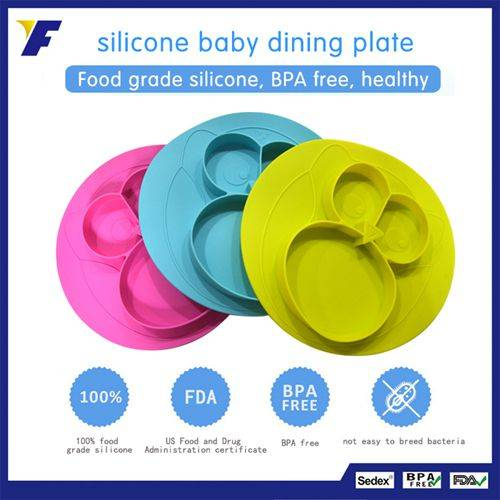 Wholesale Silicone Placemat for Kids Custom Suction Plate