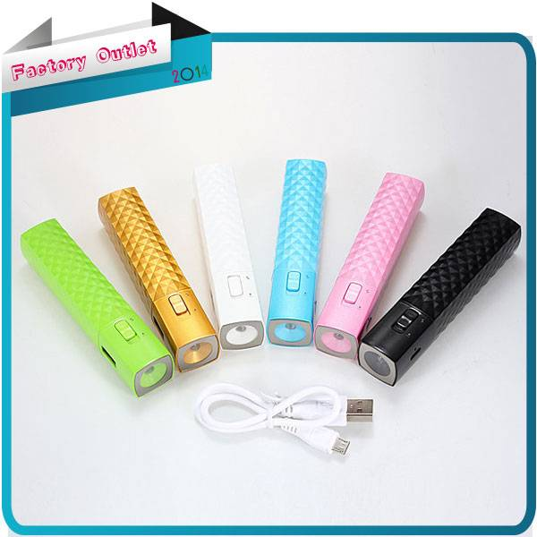 2600mAh External Backup Battery Charger Power Bank LED Flashlight For iPhone For Nokia For Samsung F