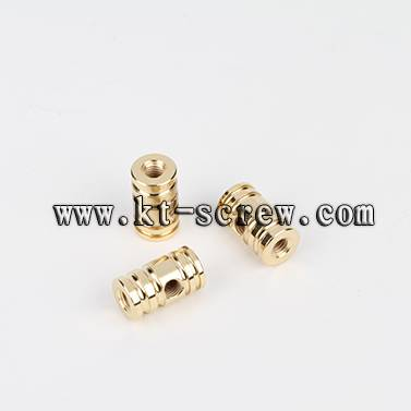 Lathe nut of cross-drilled hole nut