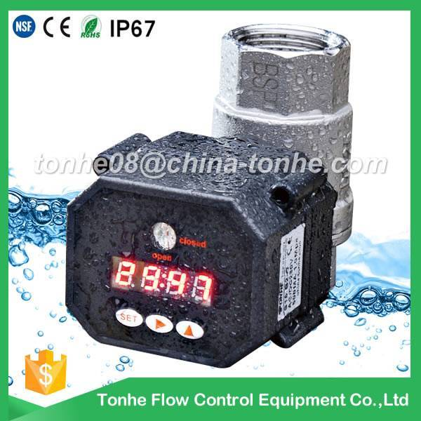 1/2,3/4,1 inch electric motorized stainless steel control water valve with timer