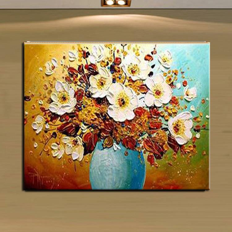 100%hand-painted flower painting frameless Decorative wall Art Paint Oil painting on canvas No.15