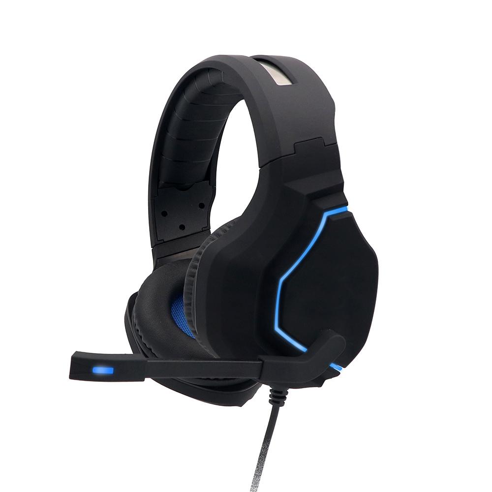 Adjustable headband 50mm driver unit RGB light gaming headset