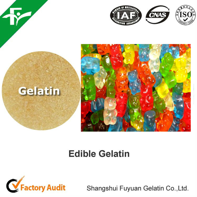 natural confectionary ingredients, food grade gelatin 80-280 bloom