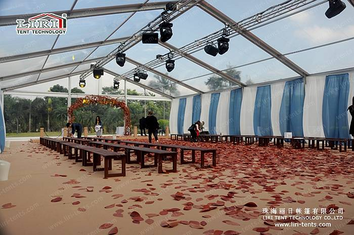 15x50m Transparent Tent for 800 People for Wedding and Party