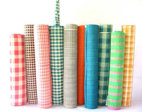 Raffia roll  Raffia Table runner  Raffia placemat