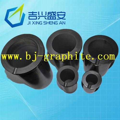 Melting high-purity graphite crucible