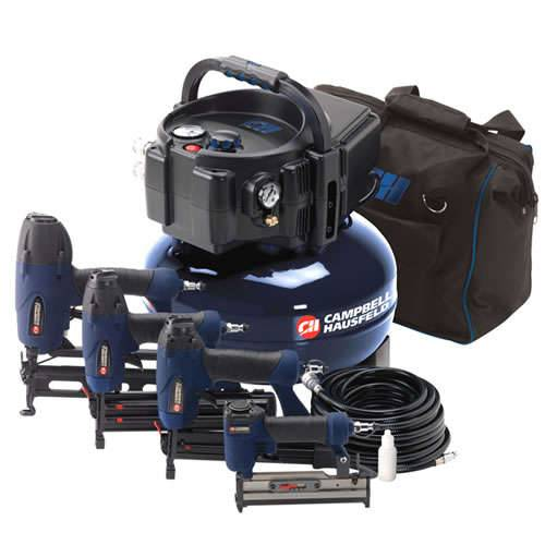 Campbell Hausfeld 6-Gallon Pancake Air Compressor w/ 4-Nailer Kit