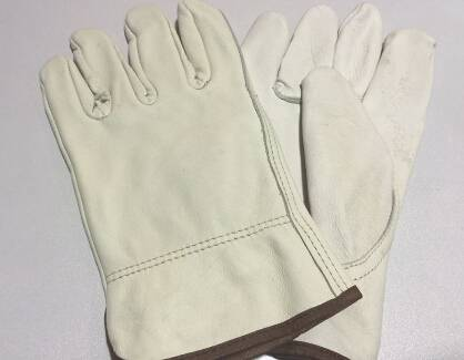 Popular crazy selling custom CE420 Keystone thumb safety grain cow leather gloves