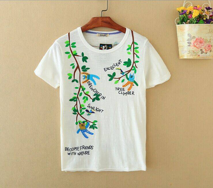2015 New Lady Excellent Tree Climber Short SleeveT-Shirt