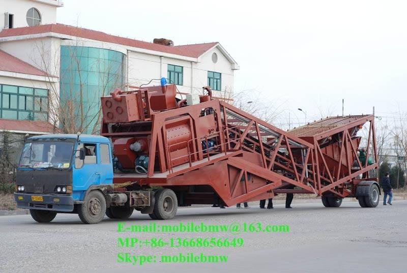 Mobile Concrete Batching Plant YHZS75