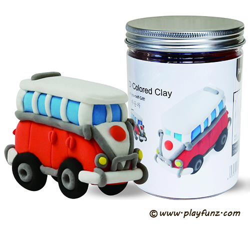 3D Colored Clay Moudling Clay Toys Educational Toys-Vintage cars