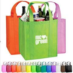Nonwoven Grocery tote Bag 12W x13H X8D