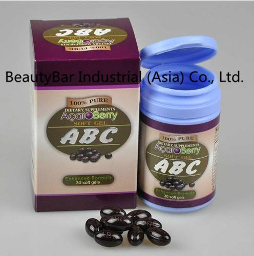 Natural Acai Berry Herbal Slimming Softgel ABC herbal gel