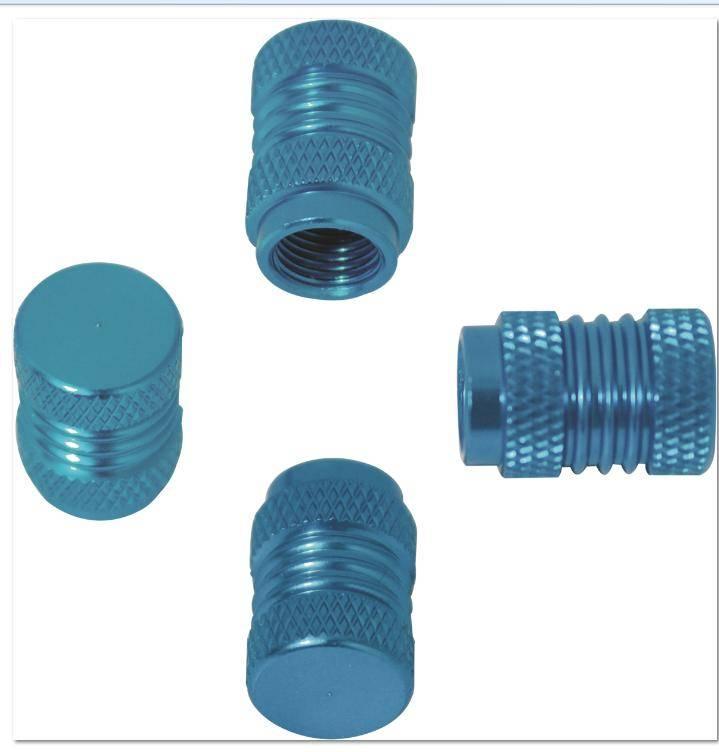 Aluminum tire valve cap