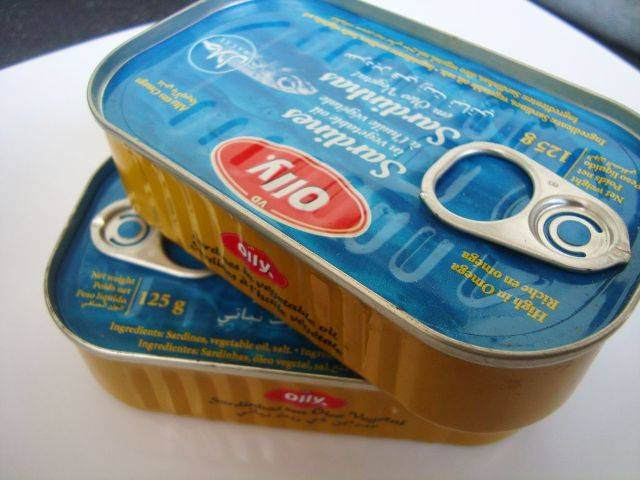 Canned Sardine In Vegetable Oil 125 Grm