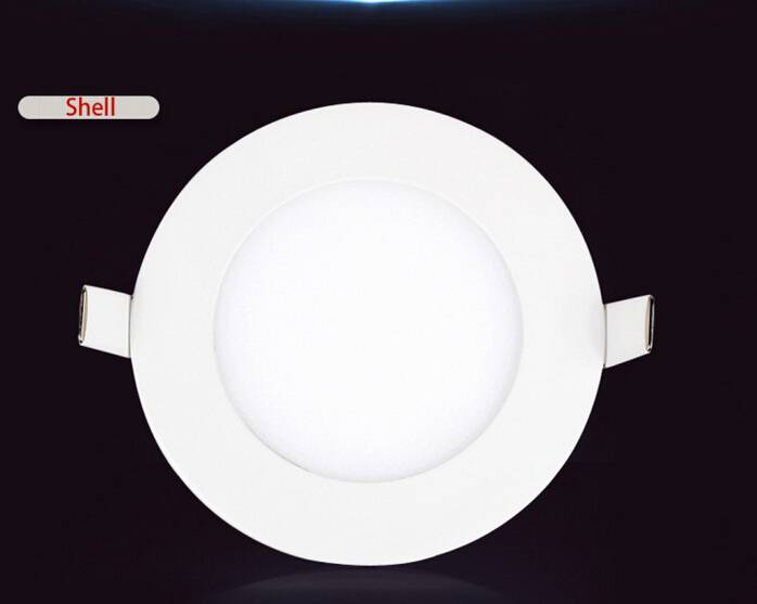 6W super slim and no light-leaking indoor round led panel light