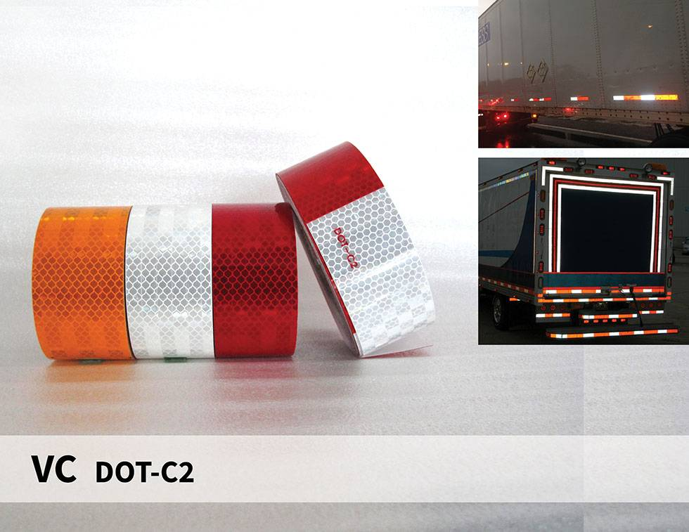 Reflective Tape Vehicle Conspicuity Marking Truck Trailer Reflective Safety Tape DOT-C2, ECE 104