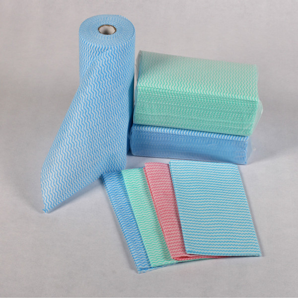 Mesh waved spunlace nonwoven fabric