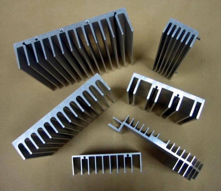 6063 6005 Aluminium heat sink extrusions