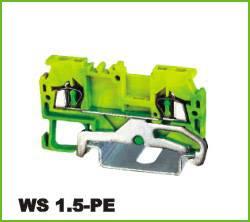 Din-rail Terminal Wire arrage:0.2-1.5mm2 Part No.WS 1.5-PE