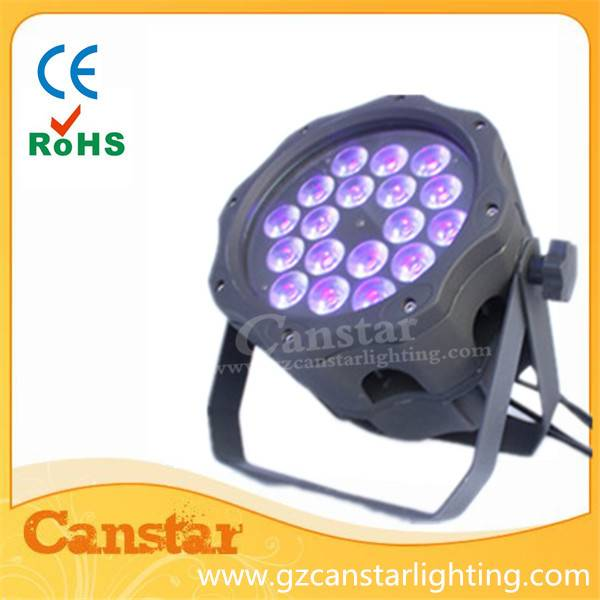 waterproof par light 18x18w RGBWA+UV 6 in 1 led